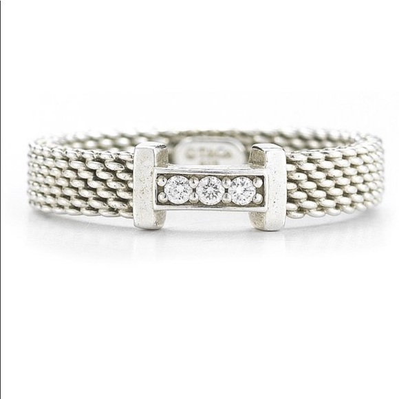 64925b5158340 Tiffany Co Sterling Silver Mesh Ring